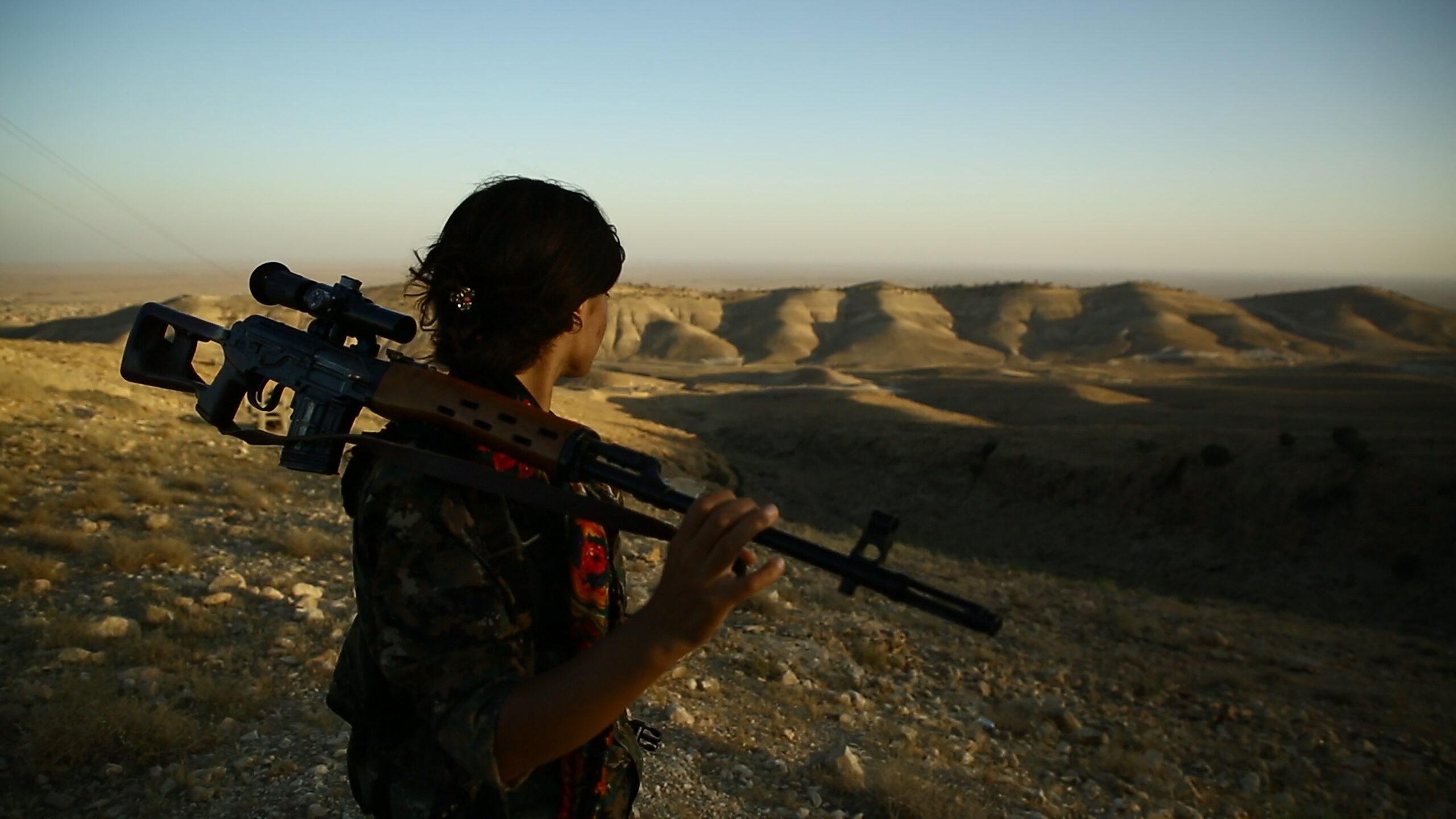 Film still yazidi woman